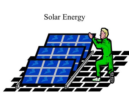 Solar Energy. Solar energy has been an under-achiever Source: U.S. Department of Energy.