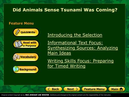 Did Animals Sense Tsunami Was Coming?