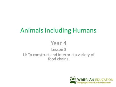 Animals including Humans