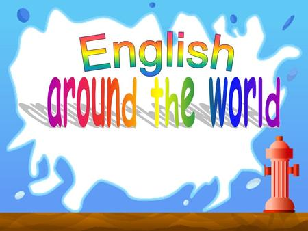 English around the world.