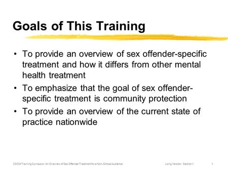 sex offender treatment curriculum Alpert