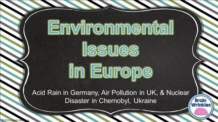 Environmental Issues in Europe