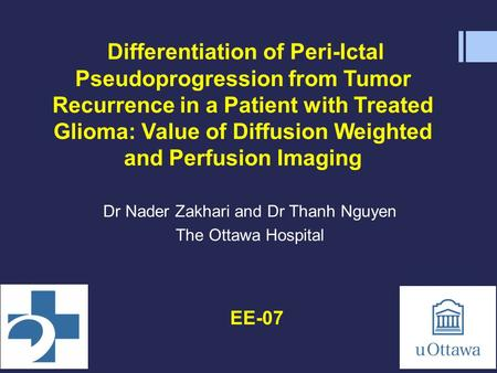 Differentiation of Peri-Ictal Pseudoprogression from Tumor Recurrence in a Patient with Treated Glioma: Value of Diffusion Weighted and Perfusion Imaging.