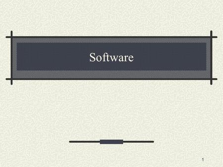 Software 1. Software is divided into parts System software Operating system Utility software Application software 2.