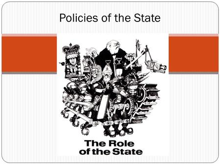 Policies of the State. State Activity UK, Sweden, US Very different…but very similar Late 20 th century, we see a push for strong government Even expanded.