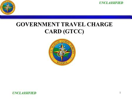Government Travel Charge Card Cardholder Training ...