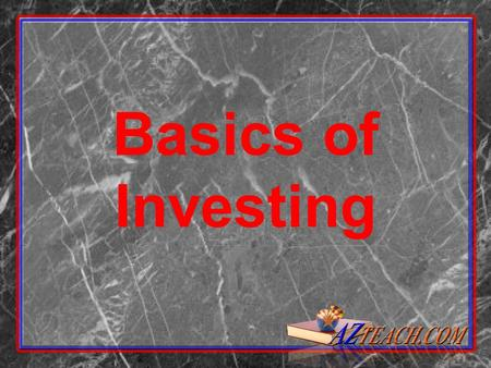 Basics of Investing. 2 Things To Do Before Investing Pay off credit card debt! Pay off credit card debt! No investment pays as much as credit card companies.