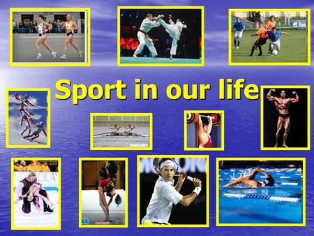 Sport in our life. SPORT Different kinds of sport. Different kinds of sport. Equipment. Rules. Equipment. Rules. My favourite sport. My favourite sport.