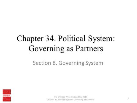 Chapter 34. Political System: Governing as Partners