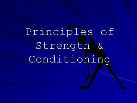 Principles of Strength & Conditioning. Progressive Overload Workouts should get harder and stress the body. How you ask????? increase the weight –Usually.