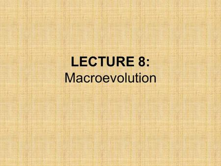 LECTURE 8: Macroevolution. What is microevolution? –Evolution on a small scale –Change in allele frequencies from one generation to the next –A process.