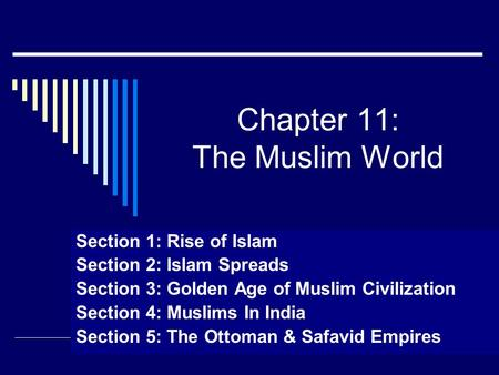 Chapter 11: The Muslim World