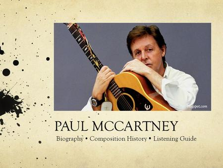 PAUL MCCARTNEY Biography  Composition History  Listening Guide blogspot.com.
