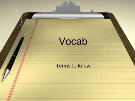 Vocab Terms to know. A Accepting - Taking the offer you are given by another player and using it to further a scene. Also called yes anding Advancing.