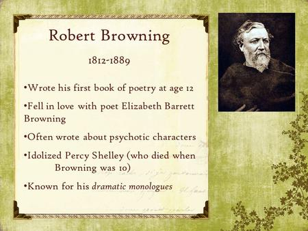 robert browning essay questions