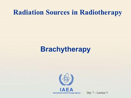 Radiation Sources in Radiotherapy