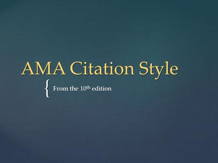 Can AMA citation format be used in Word 2007?