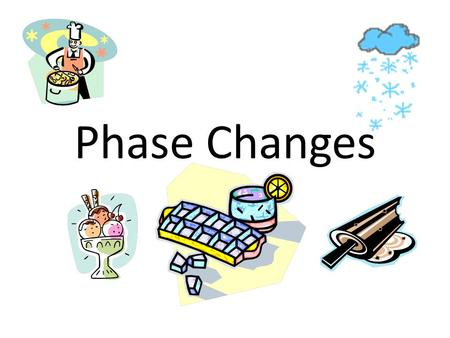 Phase Changes. Four Phases of Matter Solid Liquid Gas Plasma We'll only talk about the first three today!