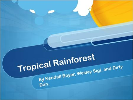 Tropical Rainforest By Kendall Boyer, Wesley Sigl, and Dirty Dan.