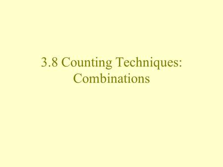 3.8 Counting Techniques: Combinations. If you are dealt a hand in poker (5 cards), does it matter in which order the cards are dealt to you? A  K  J.