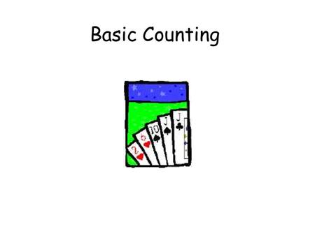 Basic Counting. This Lecture We will study some basic rules for counting. Sum rule, product rule, generalized product rule Permutations, combinations.