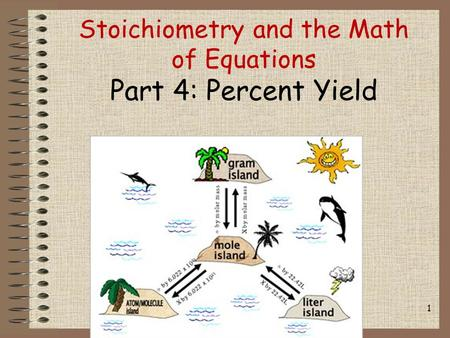 Stoichiometry and the Math of Equations Part 4: Percent Yield 1.