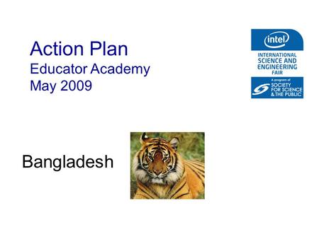 Action Plan Educator Academy May 2009 Bangladesh.