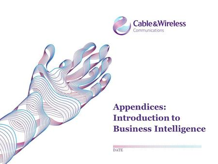 Appendices: Introduction to Business Intelligence DATE.