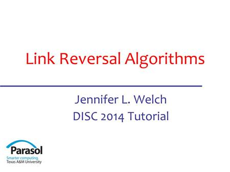 What is Link Reversal? Distributed algorithm design technique