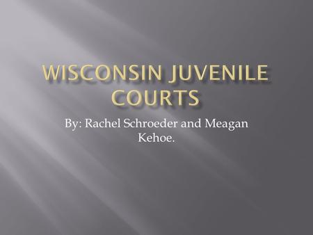 By: Rachel Schroeder and Meagan Kehoe..  Over any minor between ages 10-17  Delinquent child  Unruly Child  Neglected/abused.