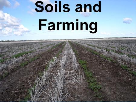 Soils and Farming. Desertification Intro Video Clip.