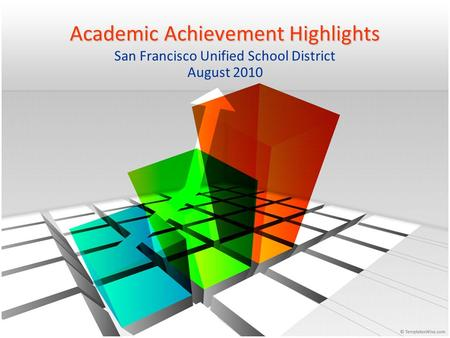 Academic Achievement Highlights San Francisco Unified School District August 2010.