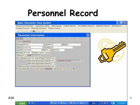 8/281 Personnel Record. 8/282 Personnel Record You are able to change all fields shown in white.