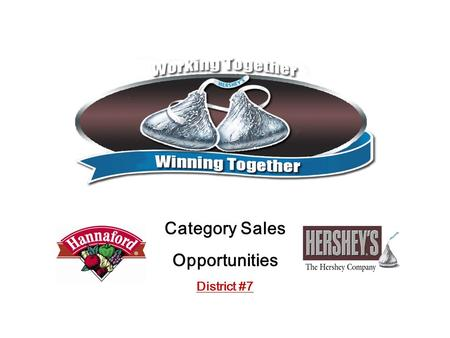 Category Sales Opportunities District #7. 2 Agenda Buyer Conversion (from Nielsen Panel data) Category Results/Hershey Results –Hannaford Totals … By.
