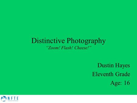 "Distinctive Photography ""Zoom! Flash! Cheese!"""