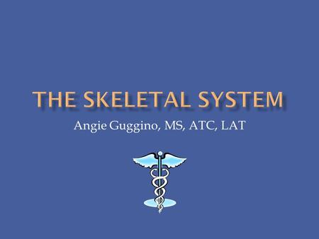 Angie Guggino, MS, ATC, LAT.  What is the structure and function of the skeletal system?  What are the common diseases and injuries effecting the skeletal.