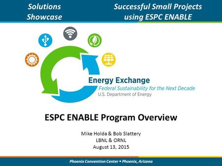 ESPC ENABLE Program Overview