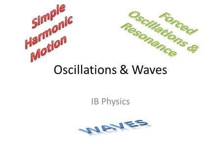 Oscillations & Waves IB Physics. Simple Harmonic Motion Oscillation 4. Physics. a. an effect expressible as a quantity that repeatedly and regularly.