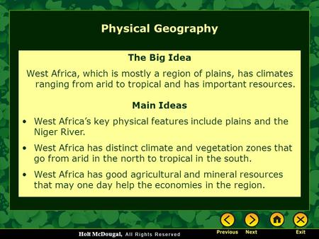 Physical Geography The Big Idea