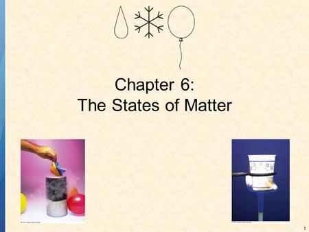 1 Chapter 6: The States of Matter. 2 PHYSICAL PROPERTIES OF MATTER All three states of matter have certain properties that help distinguish between the.