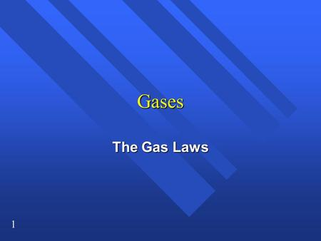 1 Gases The Gas Laws. 2 Properties of Gases n No fixed shape or volume n Molecules are very far apart and in a state of constant rapid motion n Can be.