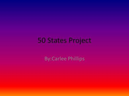 50 States Project By:Carlee Phillips. The State and the Flag and Capital The State is Tennessee. The Capital is Nashville,Tennessee The Grand Ole Opry.