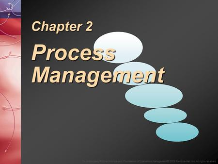 To Accompany Ritzman & Krajewski, Foundations of Operations Management © 2003 Prentice-Hall, Inc. All rights reserved. Chapter 2 Process Management.