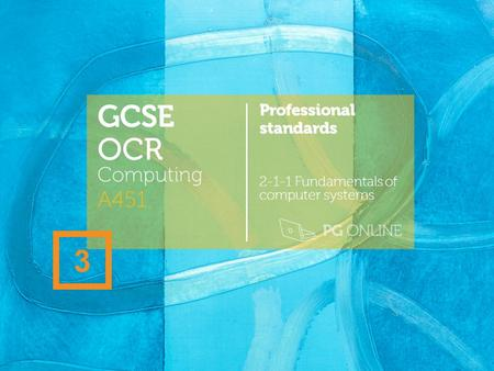 GCSE OCR 3 A451 Computing Professional standards