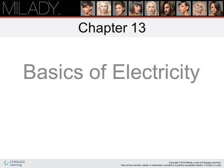 Chapter 13 Basics of Electricity.