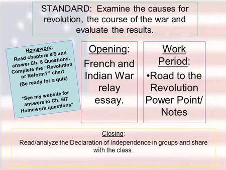 american revolution causes effects essay Write an essay causes and effects of the effects of the american revolution - 8366512.