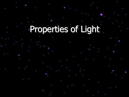 Properties of Light.