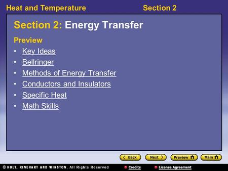 Section 2: Energy Transfer