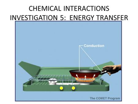 CHEMICAL INTERACTIONS INVESTIGATION 5: ENERGY TRANSFER.