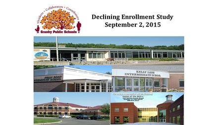 Declining Enrollment Study September 2, 2015. Enrollment 1970 to 2014.